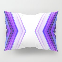 Side by Side - Ultra Violet Minimal Geometric Abstract Pillow Sham