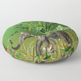 Exotic And colorful Jungle Design 5 Floor Pillow