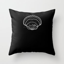 Shell Summer - One Line Drawing Throw Pillow