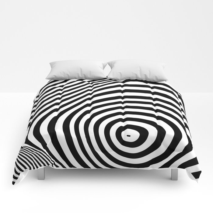 abstract striped background Comforters