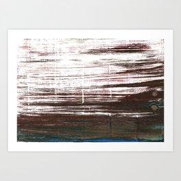 Bistre abstract watercolor Art Print