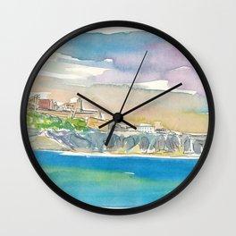 Ibiza Eivissa Fortress in Sunlight Wall Clock