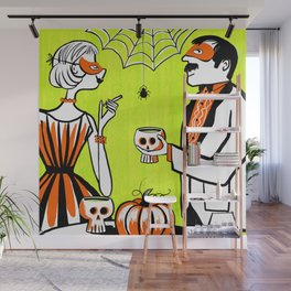 The Swankiest Halloween Party Wall Mural