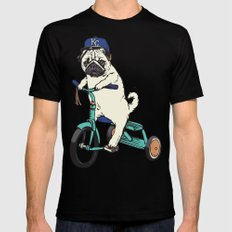 Royals Pug X-LARGE Black Mens Fitted Tee