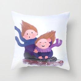 January Fun Throw Pillow