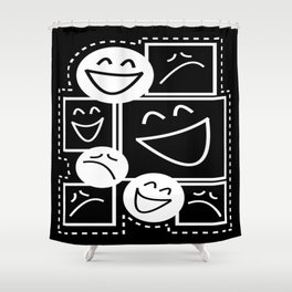 Smiles And Frowns Shower Curtain