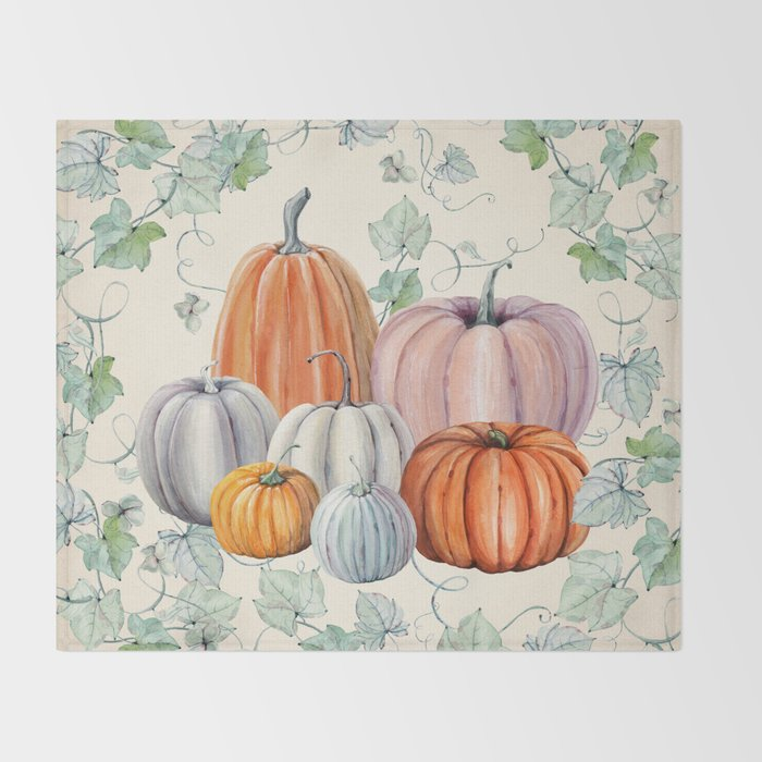 Pumpkin Patch Throw Blanket