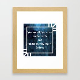 Lady Midnight Framed Art Print