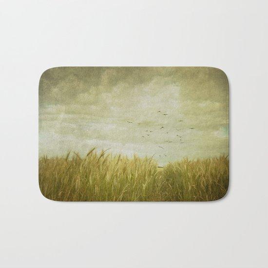 Vintage Wheat Field Bath Mat