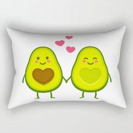 Cute avocados in love Rectangular Pillow