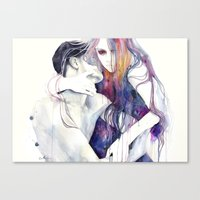 bag Canvas Prints featuring wakeful by agnes-cecile