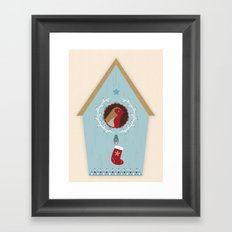 Blue Bird House Framed Art Print