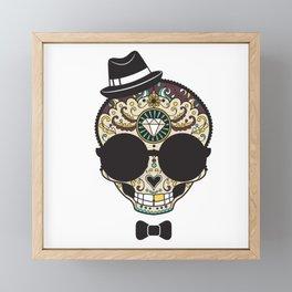 Blind Sugar Skull Framed Mini Art Print