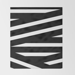 Abstract black & white Lines Stripes Pattern - Mix and Match with Simplicity of Life Throw Blanket