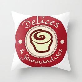 Délices & Gourmandises Throw Pillow