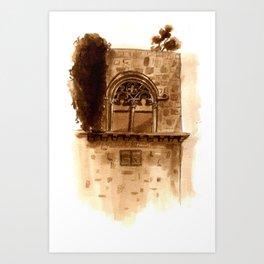 Viterbo Windows - 3 Art Print