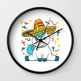 "Mexican themed Top Garment Apparel ""Confetti Unicorn Mythical Magical"" T-shirt Design Mexico Wall Clock"