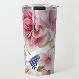 WATERCOLOR ROSES Travel Mug