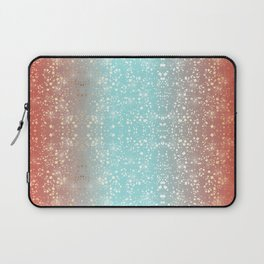 India Bright Red Orange And Blue Turquoise Gold Star Foil Sparkle Laptop Sleeve