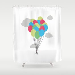 Colorful balloons Shower Curtain
