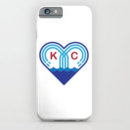 Kansas City Fountain Heart iPhone Case