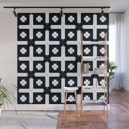 Geometric in Black and White Wall Mural