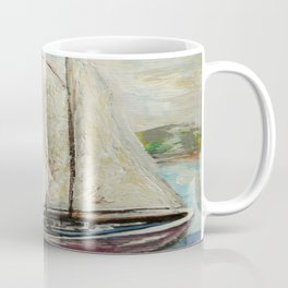 On a Cloudy Day - Impressionistic Art Coffee Mug
