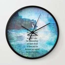 Lewis Carroll Alice in Wonderland quote Wall Clock