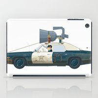 blues brothers iPad Cases featuring The Blues Brothers Bluesmobile 3/3 by Staermose