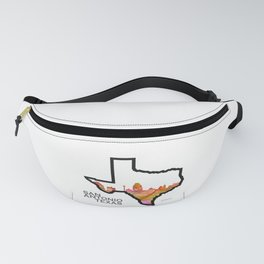 Texas State Map with San Antonio Skyline Fanny Pack