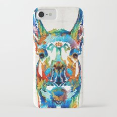 Colorful Llama Art - The Prince - By Sharon Cummings iPhone 7 Slim Case