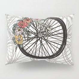Floral Bicycle Wheel Bike Pillow Sham