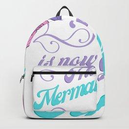 Cute Mermaid Is Going To School Backpack