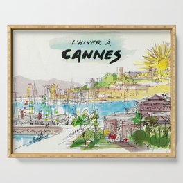 Winter In Cannes Serving Tray