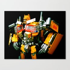 The Golden Optimus Canvas Print