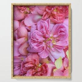 English Rose Petals Serving Tray
