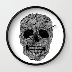 Skull No.9 Pluma Wall Clock