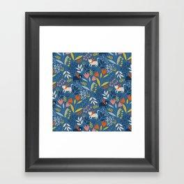Cats & Flora Framed Art Print