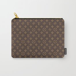 Louisvuitton Brown pattern Carry-All Pouch