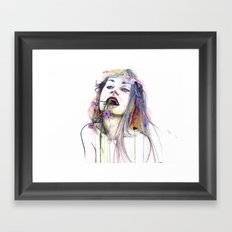 Flower Eater Framed Art Print