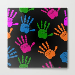 Colourful HandPrints  Metal Print