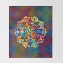 Sri Yantra  / Sri Chakra Throw Blanket