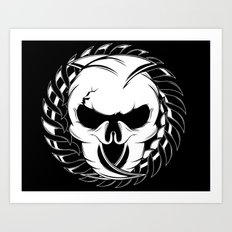 Skull Head Two Art Print