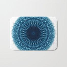 Mandala of Quantum Abundance (blue) Bath Mat