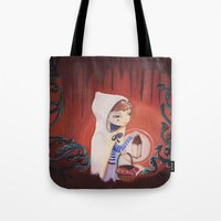 uncharted Tote Bags featuring Uncharted by Sarah Calvillo