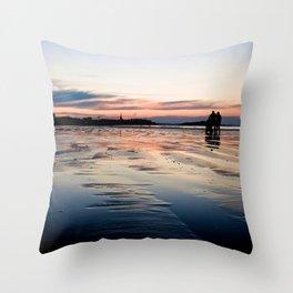 Saint Malo au coucher du soleil / Sunset in Saint Malo Throw Pillow