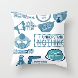 The Office - quotes and quips and stuffs Throw Pillow