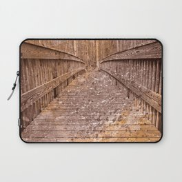 Acrylic Sepia Bridge Laptop Sleeve
