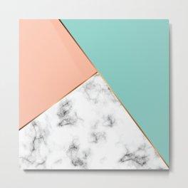 Marble Geometry 056 Metal Print