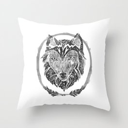 The Wolf Throw Pillow